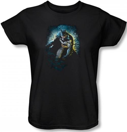 Image for Batman Womens T-Shirt - Bat Cave