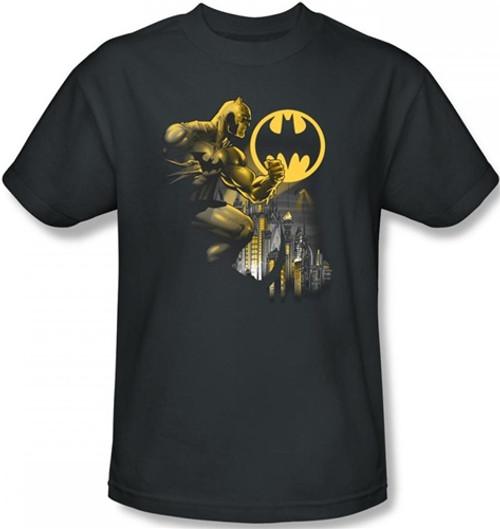 Image Closeup for Batman T-Shirt - Bat Signal