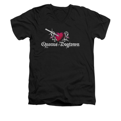 Image for Californication V-Neck T-Shirt - Queens of Dogtown