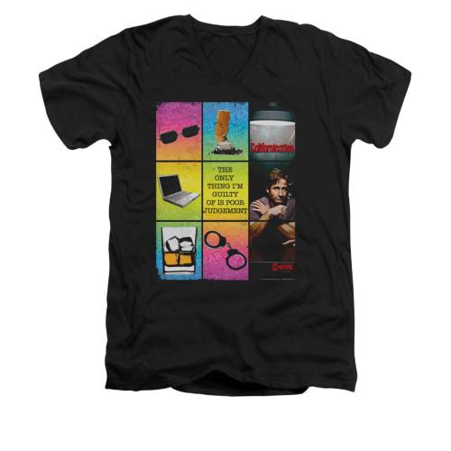 Image for Californication V-Neck T-Shirt - Poor Judgement