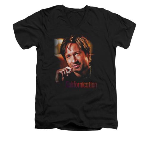 Image for Californication V-Neck T-Shirt - Smoker