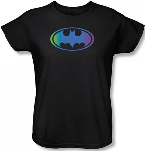 Image for Batman Womens T-Shirt - Gradient Bat Logo