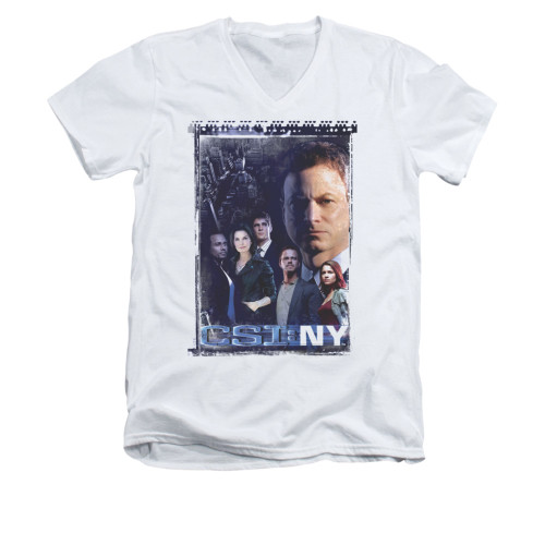 Image for CSI NY V-Neck T-Shirt - Watchful Eye