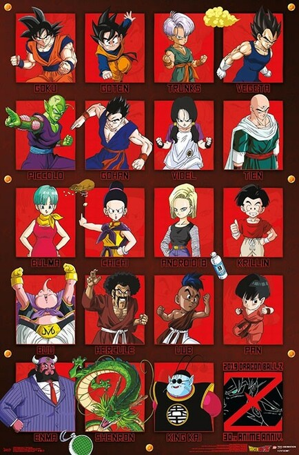 Image for Dragon Ball Z Poster - Anniversary