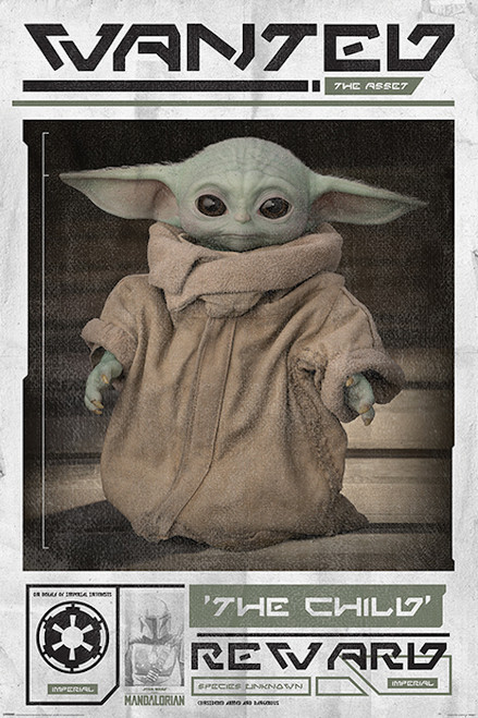 Image for Star Wars Mandalorian Poster - The Child Wanted Poster