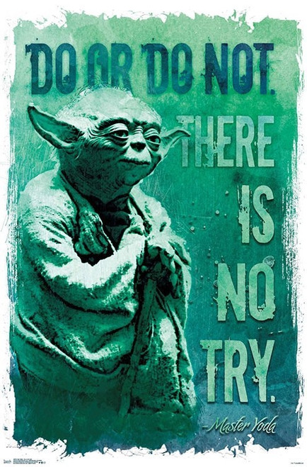 Image for Star Wars Poster - Yoda Do or Do Not There is No Try