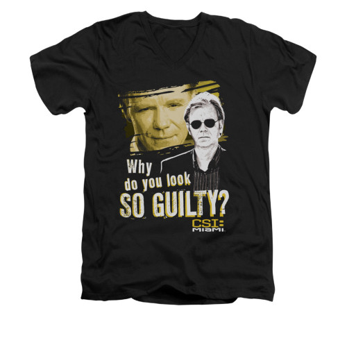 Image for CSI Miami V-Neck T-Shirt - So Guilty