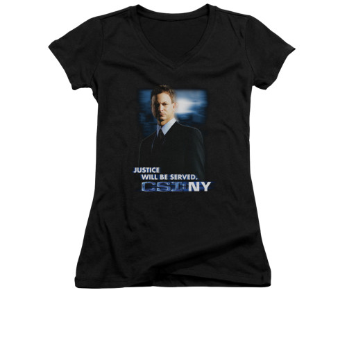 Image for CSI: NY Girls V Neck T-Shirt - Justice Served