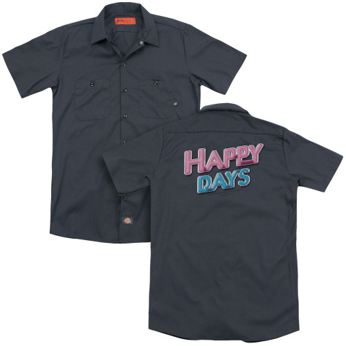 Image for Happy Days Dickies Work Shirt - Happy Days Logo