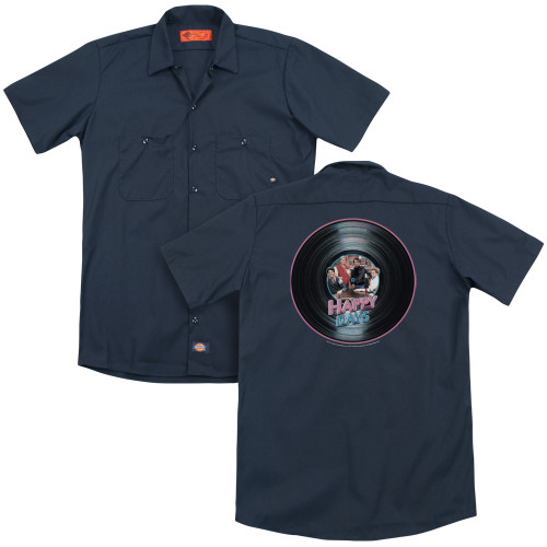 Image for Happy Days Dickies Work Shirt - On The Record