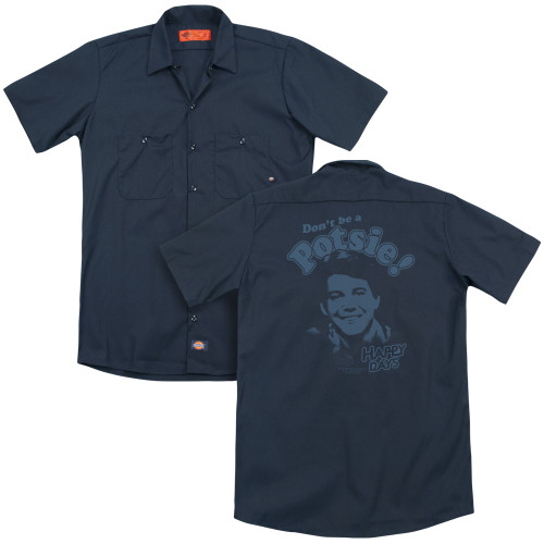 Image for Happy Days Dickies Work Shirt - Don't Be A Potsy!