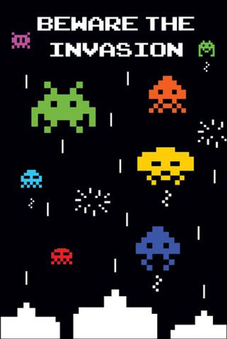 Image for Space Invaders Poster - Beware the Invasion