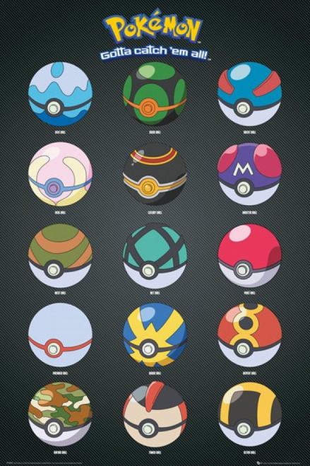 Image for Pokemon Poster - Pokeballs
