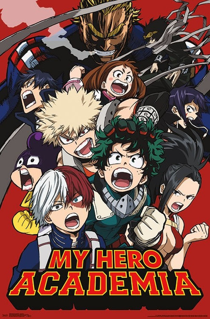 Image for My Hero Academia Poster - Screaming Group