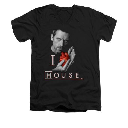Image for House V-Neck T-Shirt - I Heart House