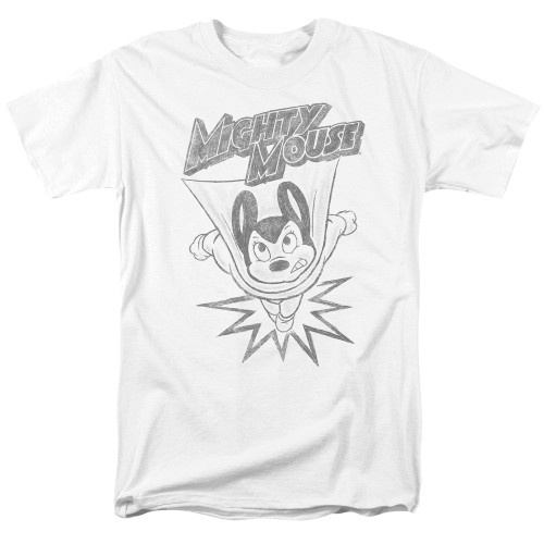 Image for Mighty Mouse T-Shirt - Bursting Out