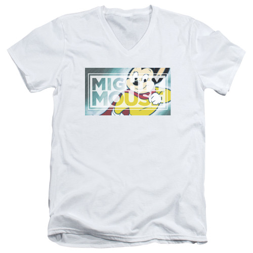 Image for Mighty Mouse V-Neck T-Shirt Mighty Rectangle