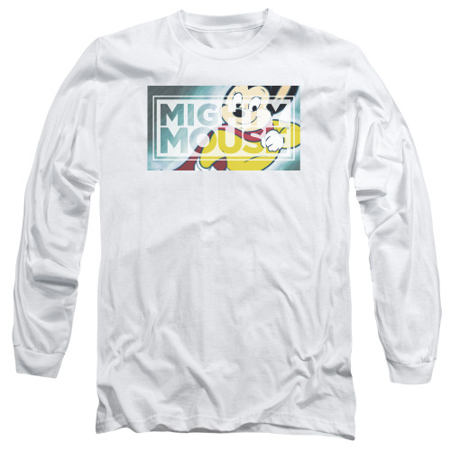 Image for Mighty Mouse Long Sleeve T-Shirt - Mighty Rectangle
