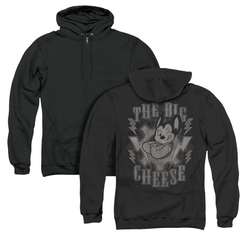 Image for Mighty Mouse Zip Up Back Print Hoodie - The Big Cheese
