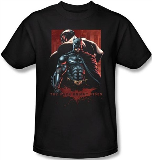 Image Closeup for The Dark Knight Rises T-Shirt - Batman & Bane