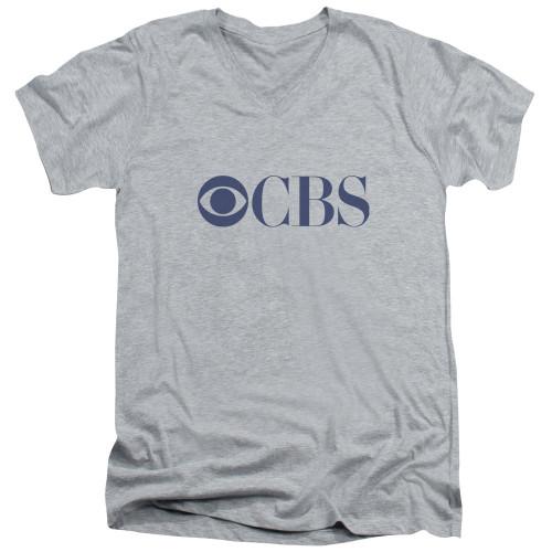 Image for CBS Network V-Neck T-Shirt Logo