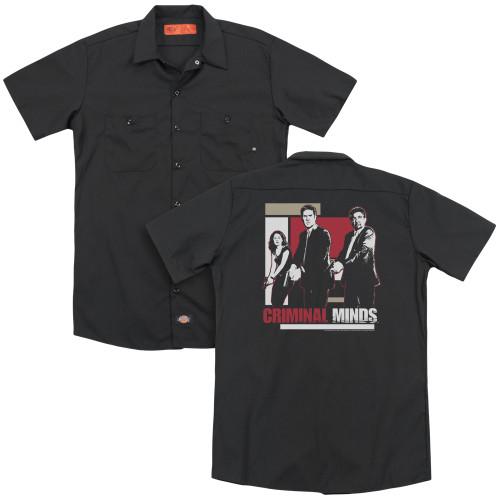 Image for Criminal Minds Dickies Work Shirt - Guns Drawn