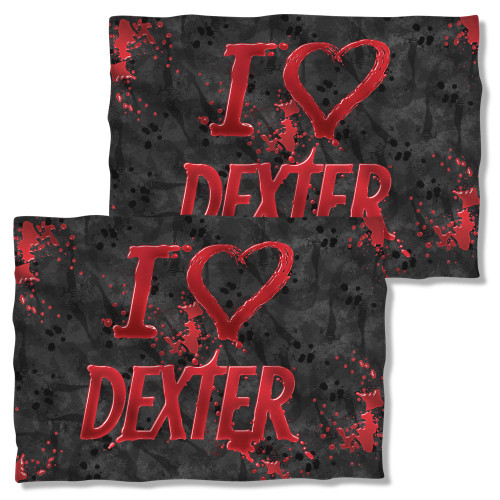 Image Closeup for Dexter Pillow Case - I Heart Dexter