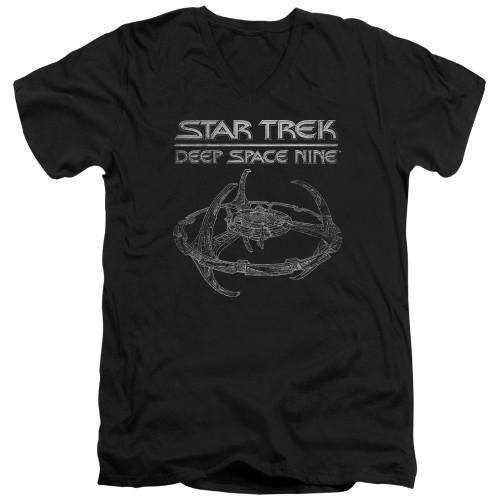 Image for Star Trek Deep Space Nine V-Neck T-Shirt DS9 Station