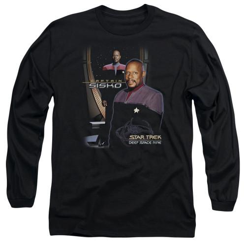 Image for Star Trek Deep Space Nine Long Sleeve T-Shirt - Captain Sisko