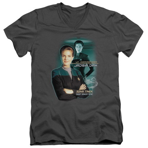 Image for Star Trek Deep Space Nine V-Neck T-Shirt Jadzia Dax