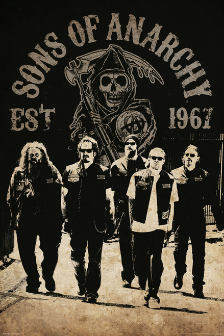 Image for Sons of Anarchy Poster - Reaper Crew