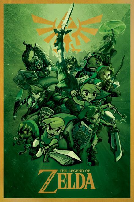 Image for Legend of Zelda Poster - Links
