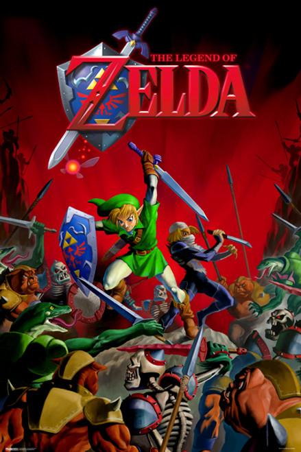 Image for Legend of Zelda Poster - Battle