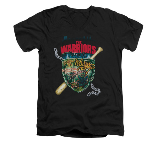 Image for the Warriors V-Neck T-Shirt - Shield