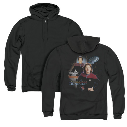 Image for Star Trek Voyager Zip Up Back Print Hoodie - Captain Janeway