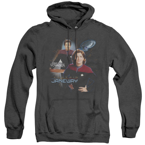 Image for Star Trek Voyager Heather Hoodie - Captain Janeway