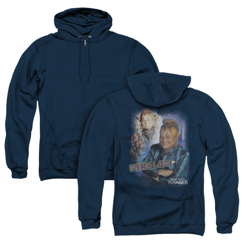 Image for Star Trek Voyager Zip Up Back Print Hoodie - Neelix