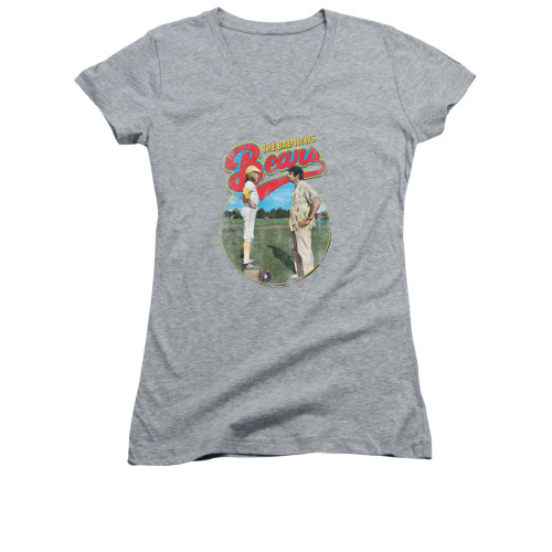 Image for Bad News Bears Girls V Neck T-Shirt - Vintage