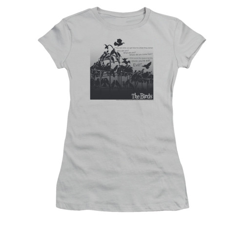 Image for The Birds Girls T-Shirt - Evil