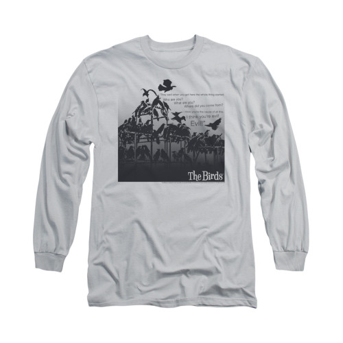 Image for The Birds Long Sleeve T-Shirt - Evil