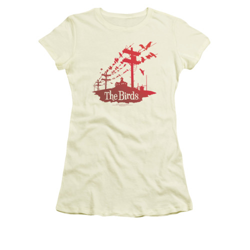 Image for The Birds Girls T-Shirt - On a Wire