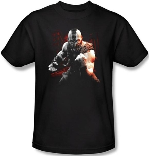 Image Closeup for The Dark Knight Rises T-Shirt - Bane Battleground
