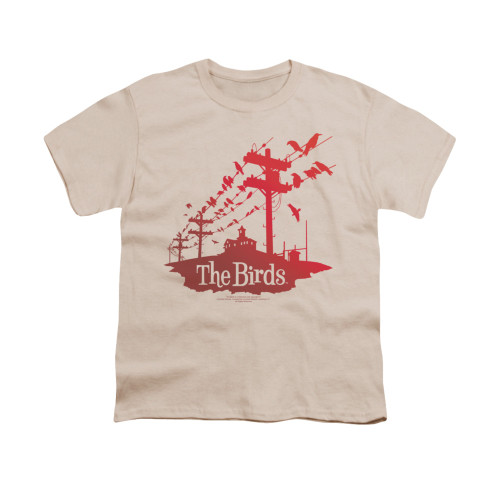 Image for The Birds Youth T-Shirt - On a Wire