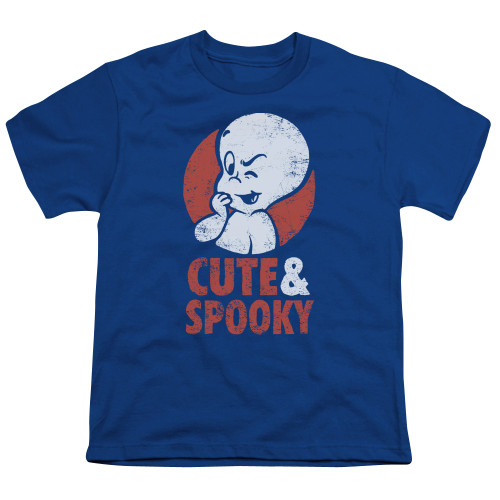 Image for Casper the Friendly Ghost Youth T-Shirt - Spooky