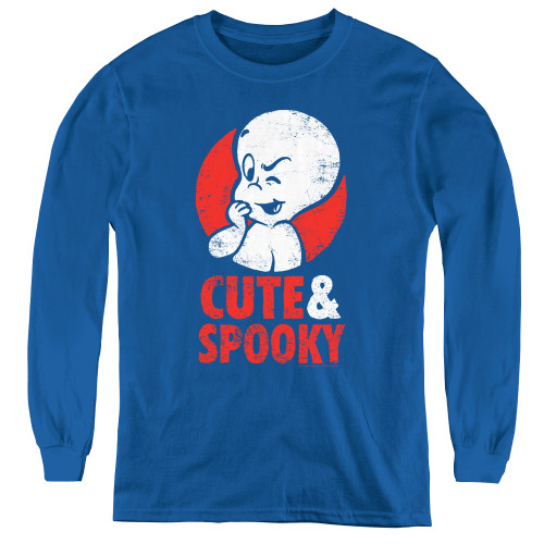 Image for Casper the Friendly Ghost Youth Long Sleeve T-Shirt - Spooky