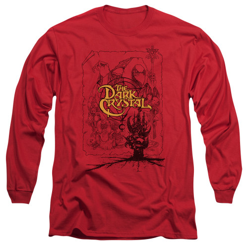 Image for The Dark Crystal Long Sleeve T-Shirt - Poster Lines