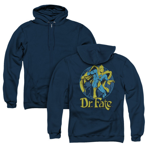 Image for Doctor Fate Zip Up Back Print Hoodie - Dr. Fate Ankh