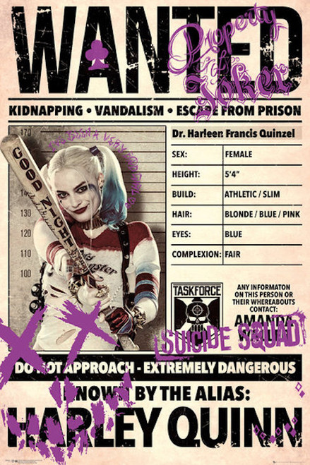 Image for Harley Quinn Poster - Wanted