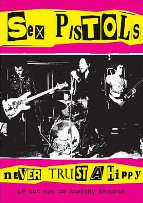 Image for Sex Pistols Poster - Never Trust a Hippy