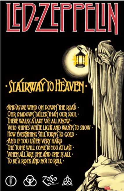 Image for Led Zeppelin Poster - Stairway to Heaven